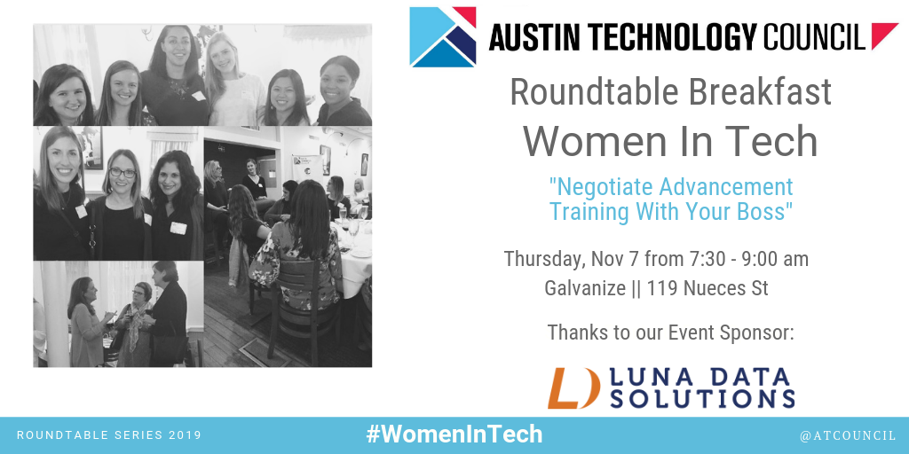 Austin Technology Council: Roundtable – Women in Tech || Nov 7