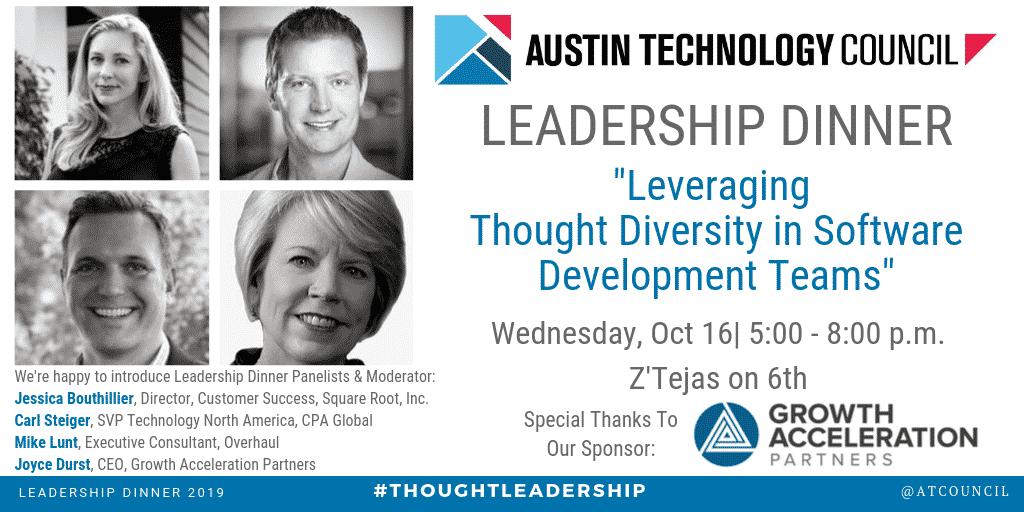 Austin Technology Council : Leadership Dinner    Oct 16