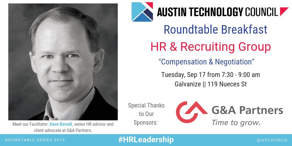 Austin Technology Council : Roundtable – HR Leadership || Sept 17