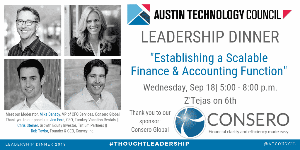 Austin Technology Council : September Leadership Dinner Hosted by CONSERO GLOBAL