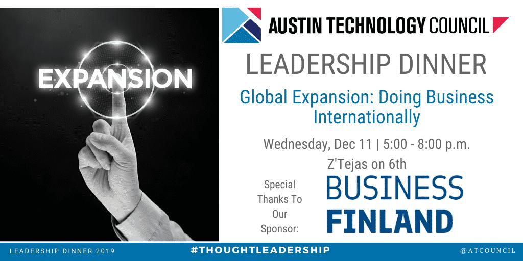 Austin Technology Council: December Leadership Dinner