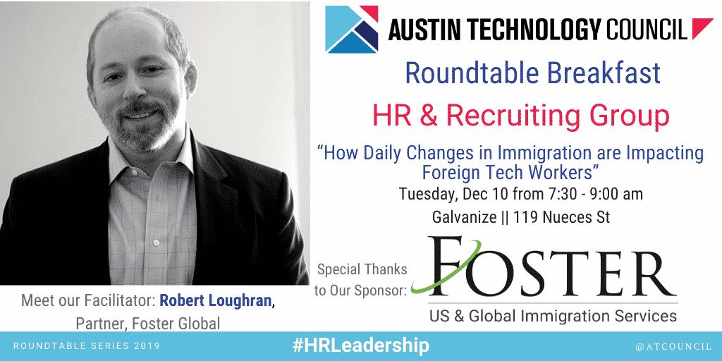 Austin Technology Council Roundtable: HR Leadership | Dec 10