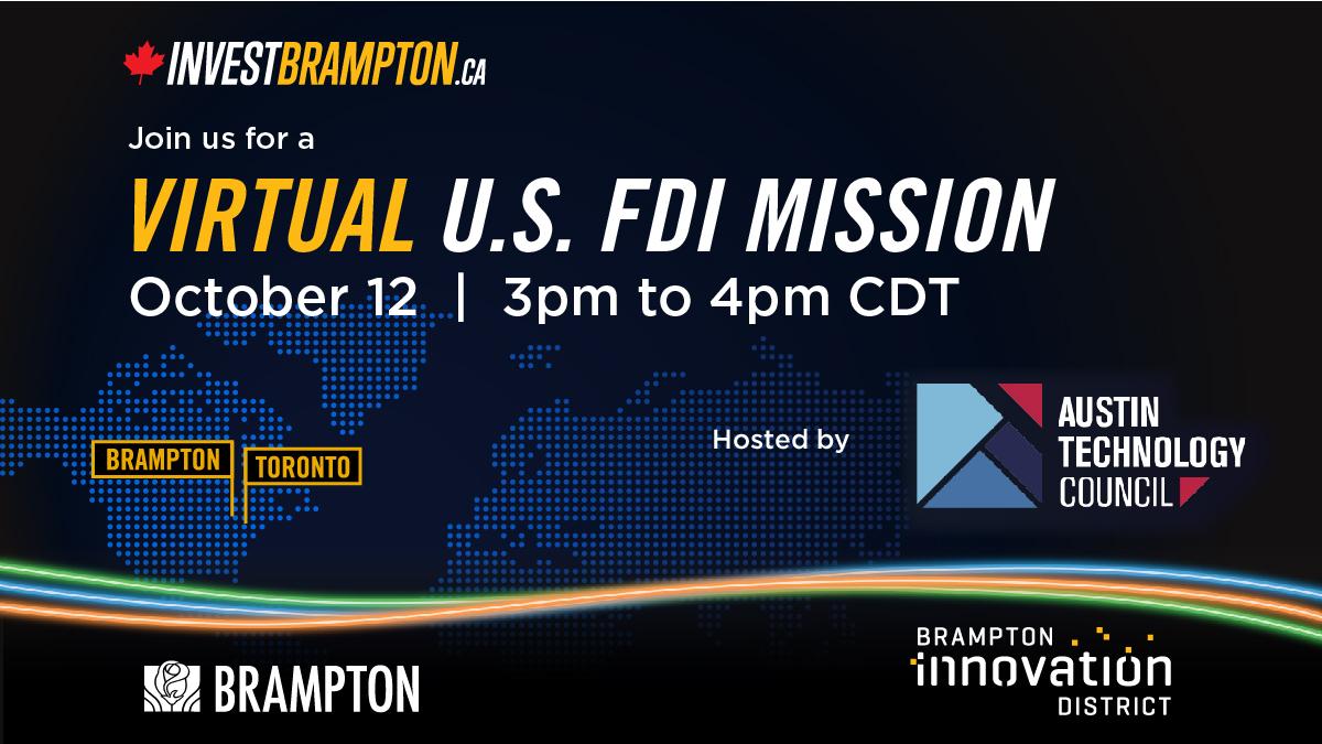 Virtual U.S. FDI Mission with the City of Brampton